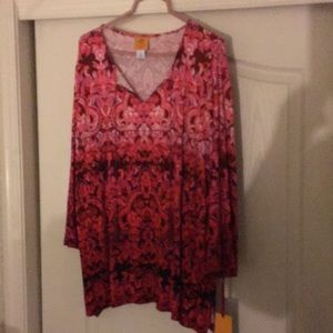 NWT sz 2x or 3x shades of red by ruby rd